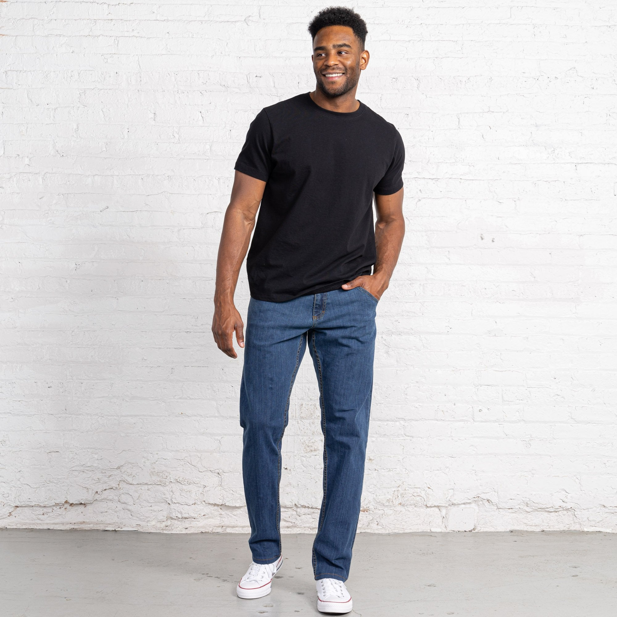 Classic Fit Medium Stretch Denim