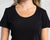 Color:Black Combed Cotton T-shirts Women's T-shirts