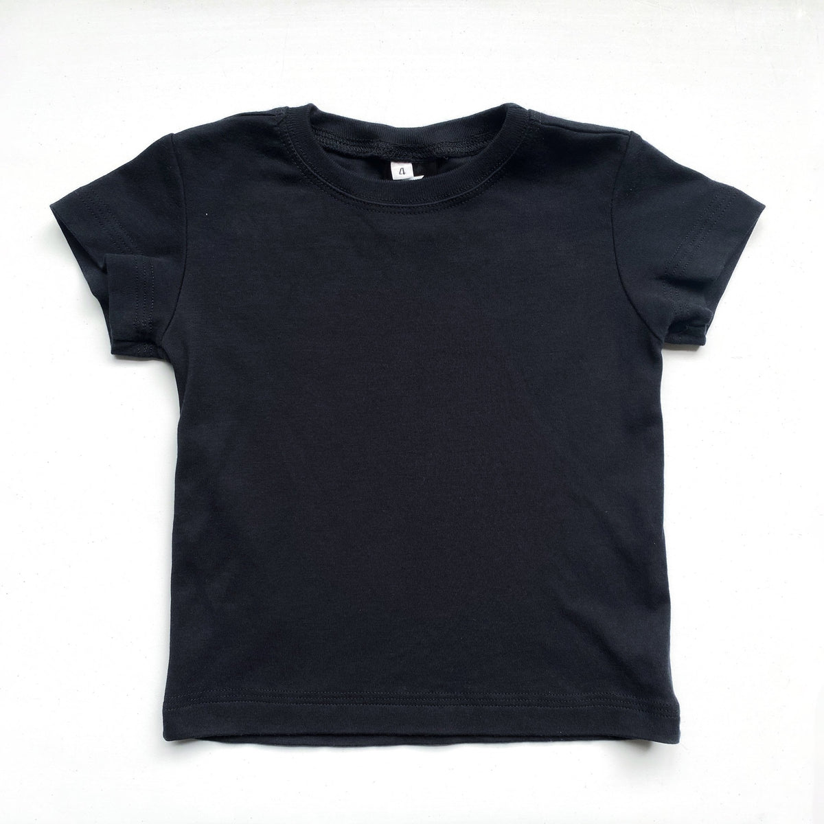 Kids' Classic color:Black Combed Cotton Kids' T-shirts New T-shirts