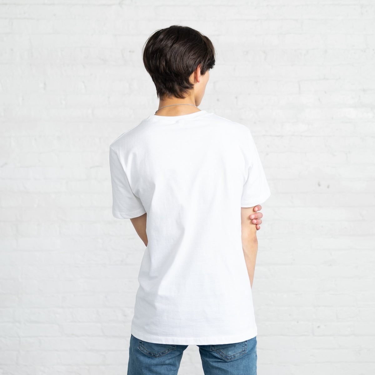 Fitted Color:White Combed Cotton Men's T-shirts