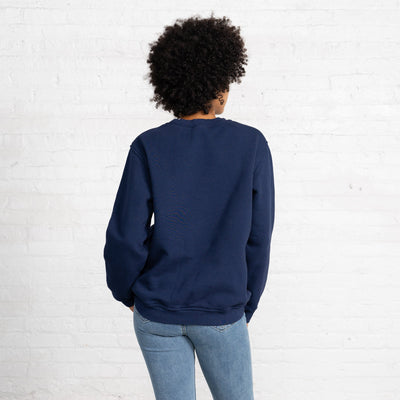 Color:Navy 3 Thread Fleece Men's Sweatshirts Sweatshirts