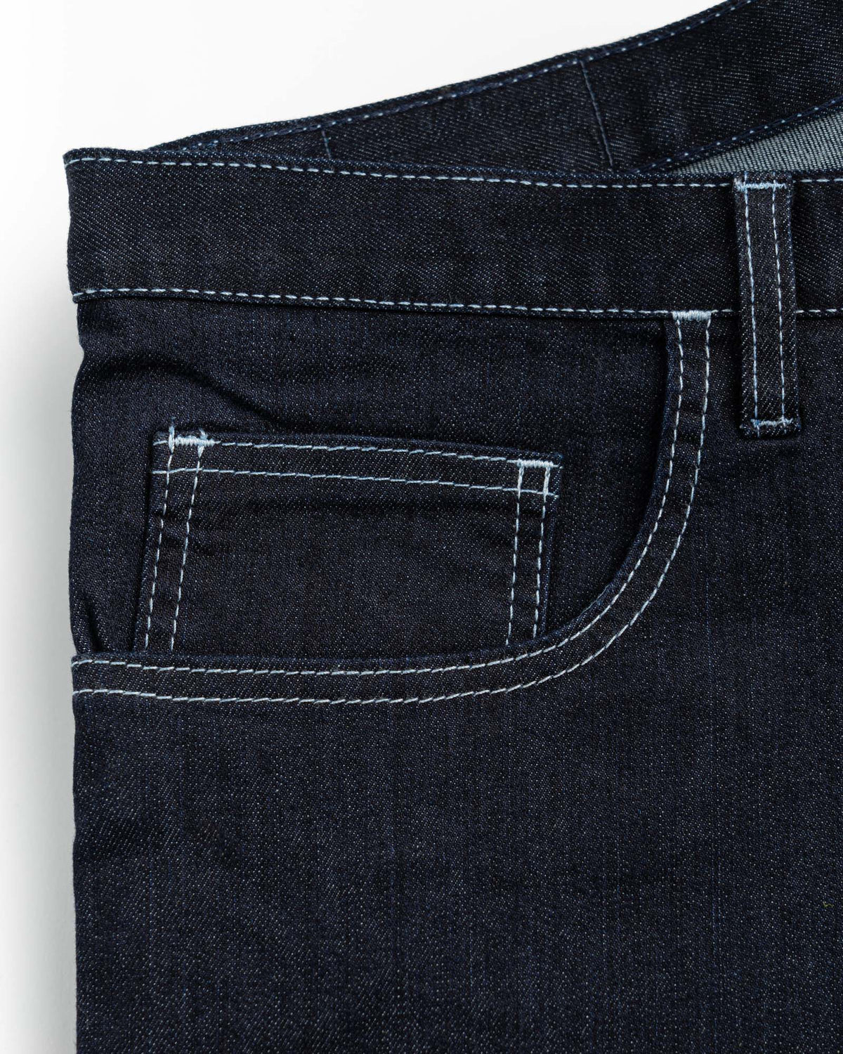 Relaxed Fit Dark Dark 10oz Stretch Denim Jeans Men's Jeans