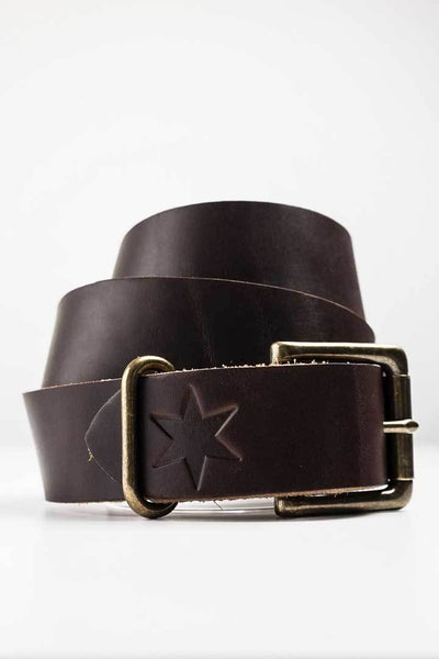 #2: Dark Havana Brown Leather Belt