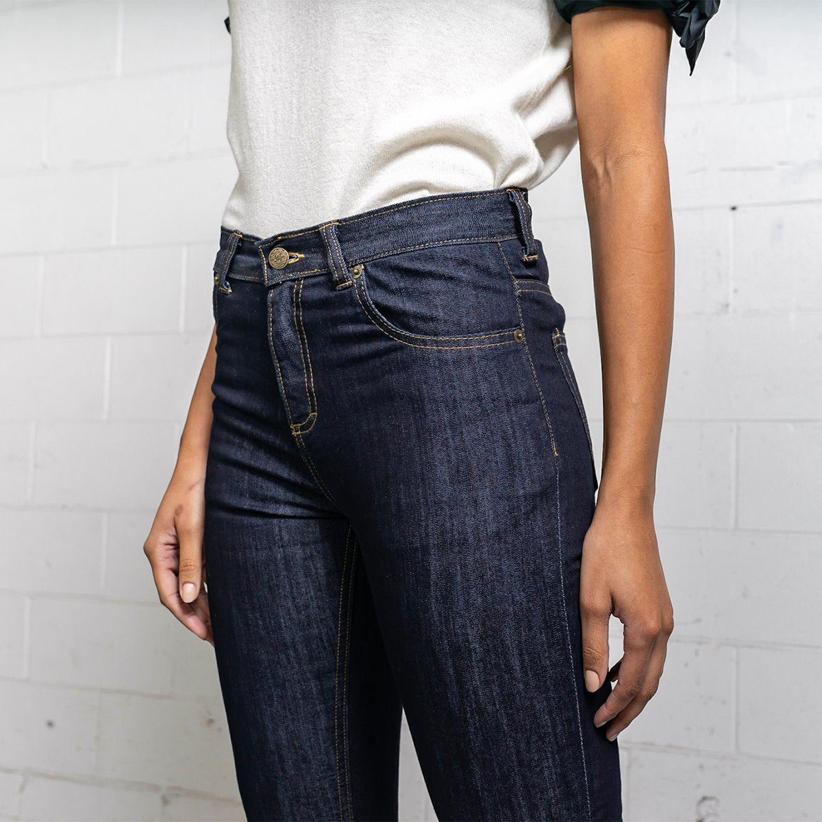 More images: #9: Skinny High Rise Dark Wash