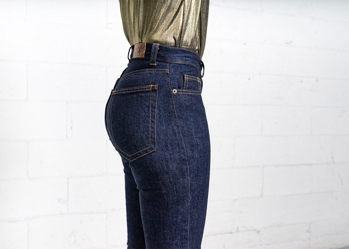 More images: #18: Waist High Curve 13oz Dark Wash