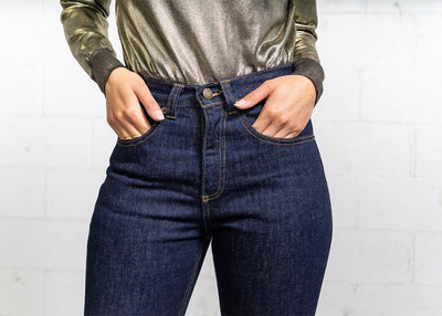 More images: #7: Waist High Curve 13oz Dark Wash