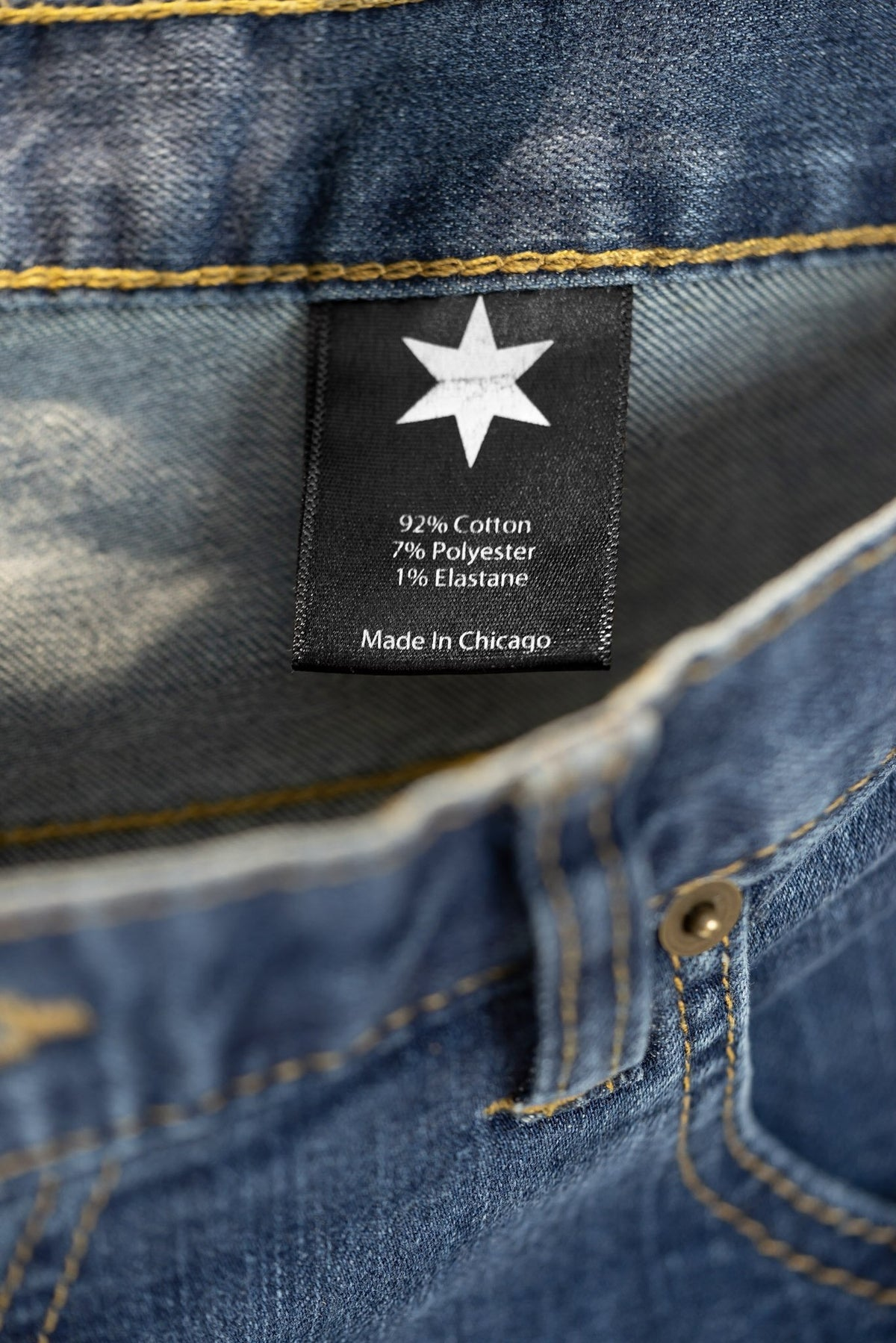 More images: 100% cotton denim tag