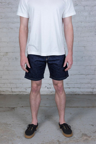 100% Cotton Denim Shorts - Dark Wash