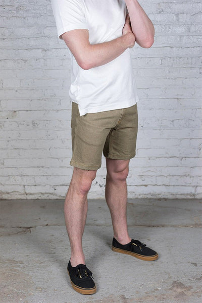 #2: khaki-denim-shorts