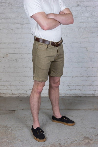 #3: khaki-denim-shorts