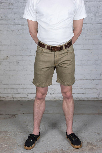 Khaki Denim Shorts