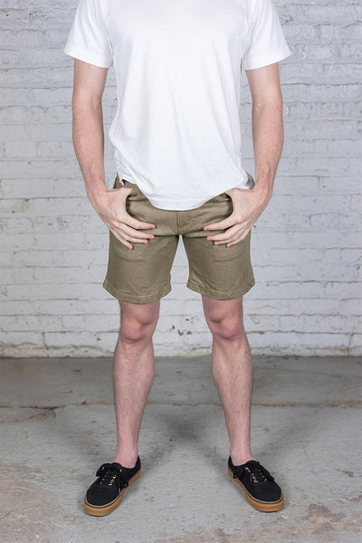 #1: khaki-denim-shorts