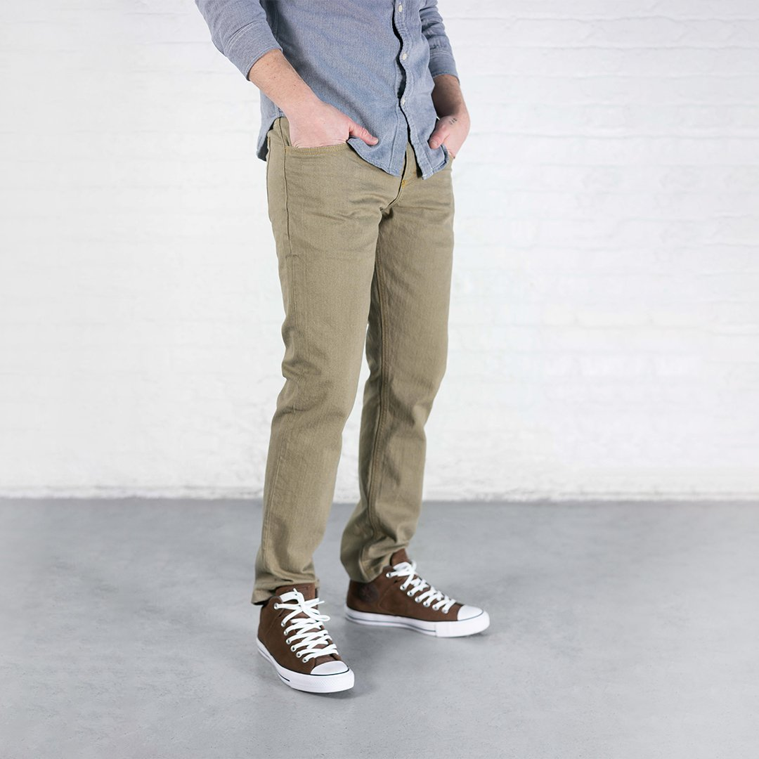 #1: Slim Fit - Khaki