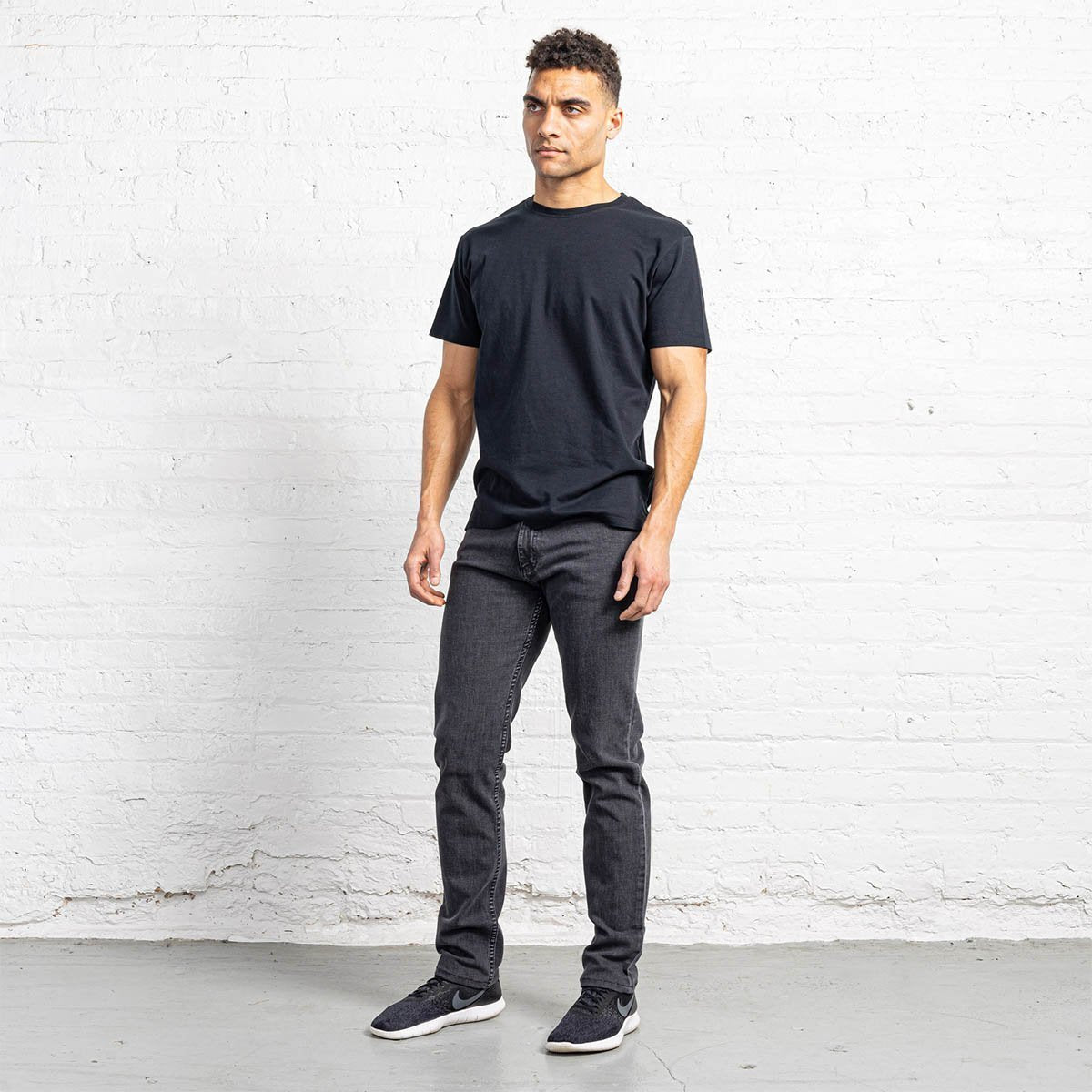 Tailored Fit Grey Wash