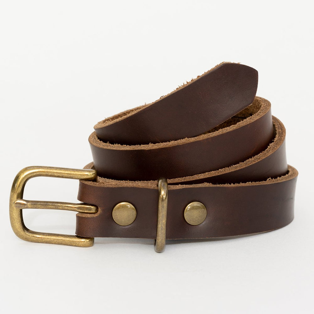 Women's Brown Leather Belt
