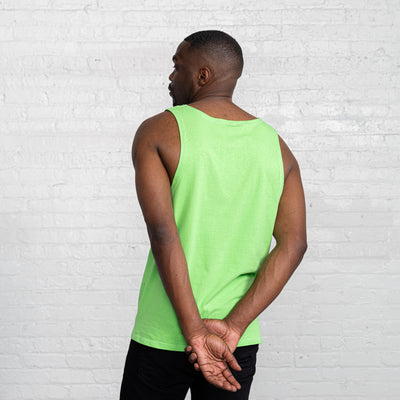 Color:Bright Green Combed Cotton Men's Tank Tops