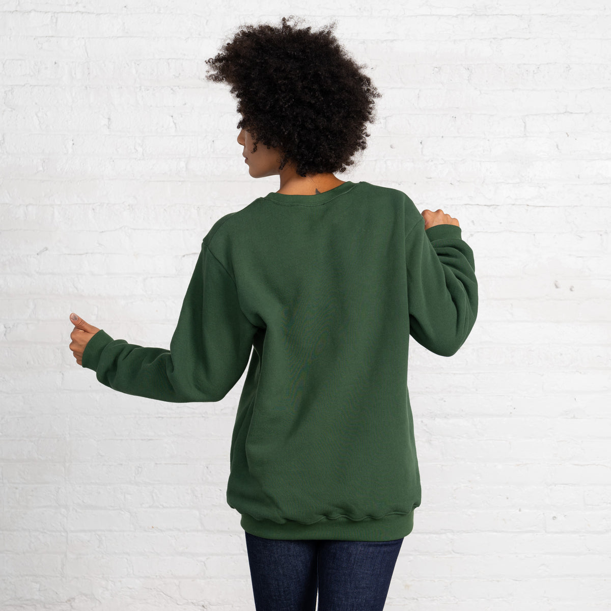 Color:Dark Green 3 Thread Fleece Men's Sweatshirts Sweatshirts