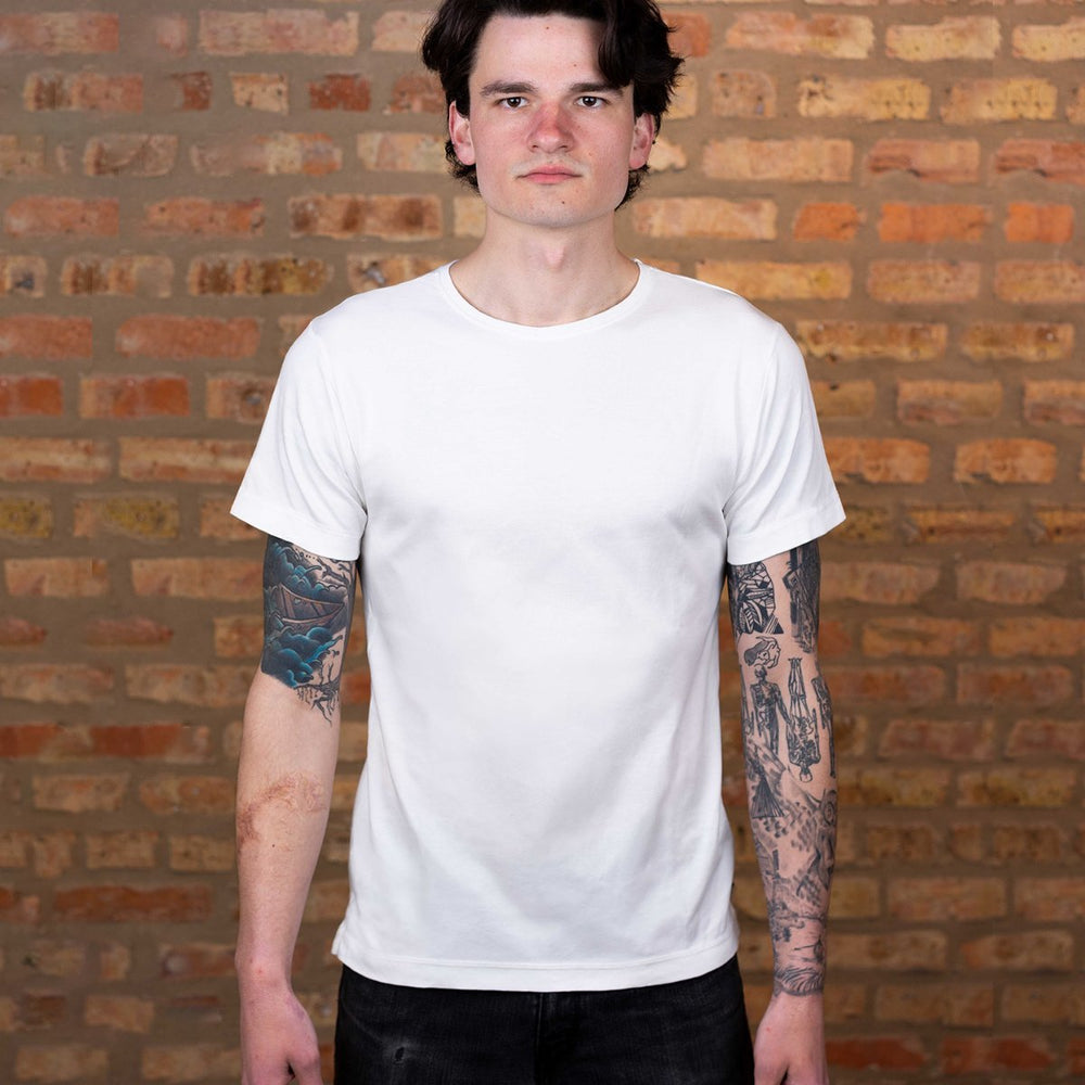 The Most Comfortable White T - Fitted