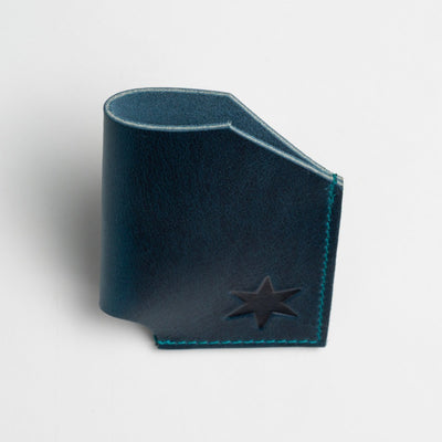 Aqua Leather Card Holder