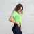 Color:Bright Green Combed Cotton T-shirts Women's T-shirts
