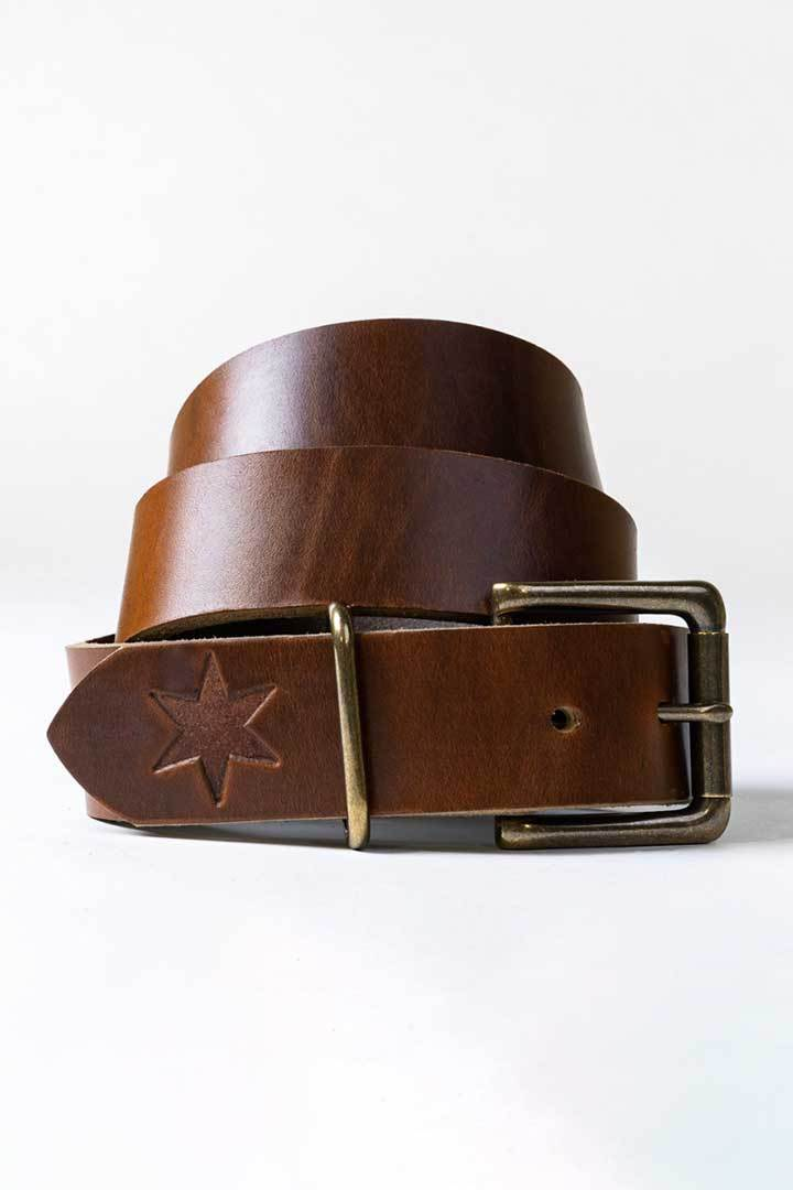 #1: Chicago Tan Leather Belt