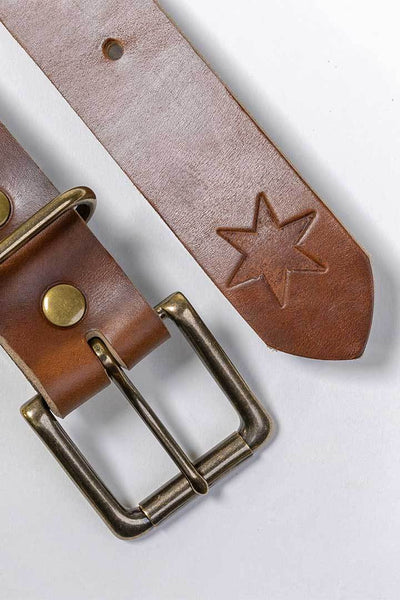 More images: #7: Chicago Tan Leather Belt