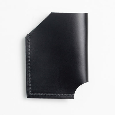 Black Leather Card Holder