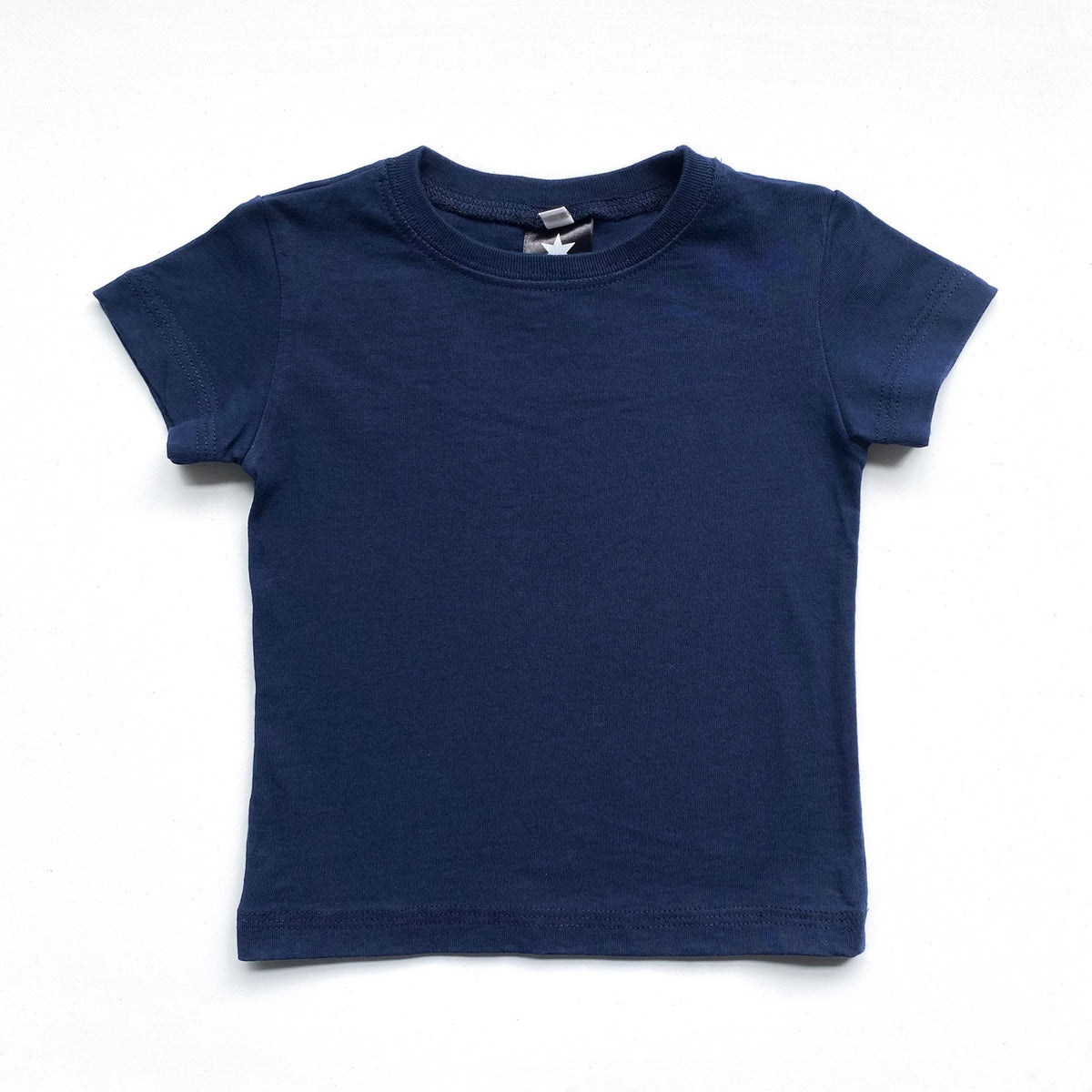 Kids' Classic color:Navy Combed Cotton Kids' T-shirts New T-shirts
