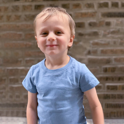Kids' Classic color:Light Blue Combed Cotton Kids' T-shirts New T-shirts