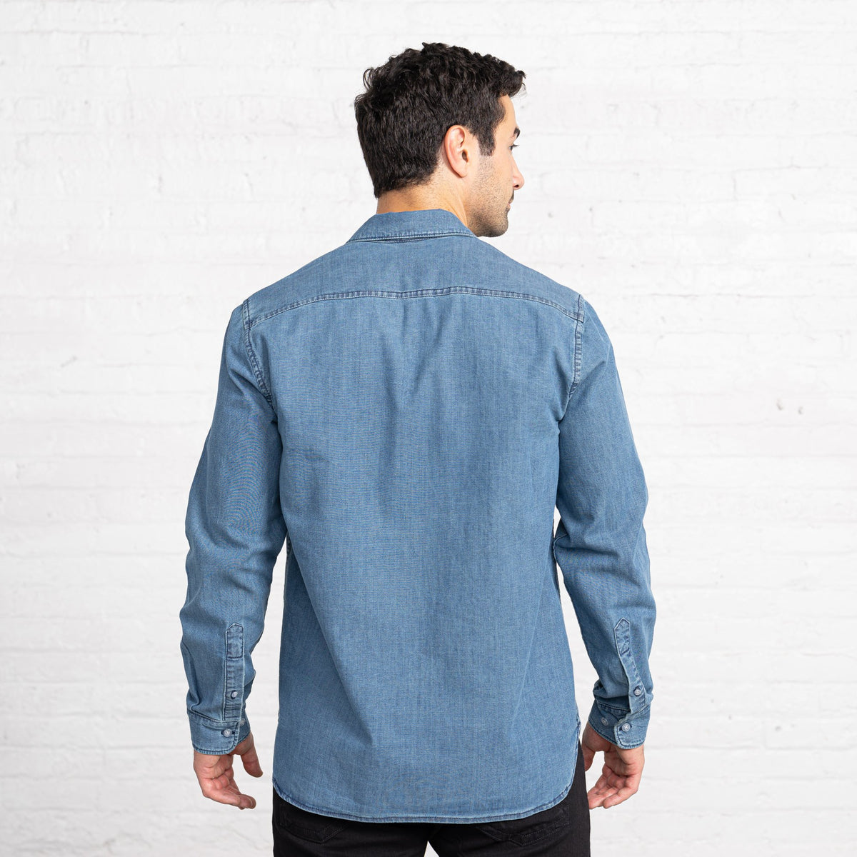 Regular Light Chambray Button Downs Men's Button Downs