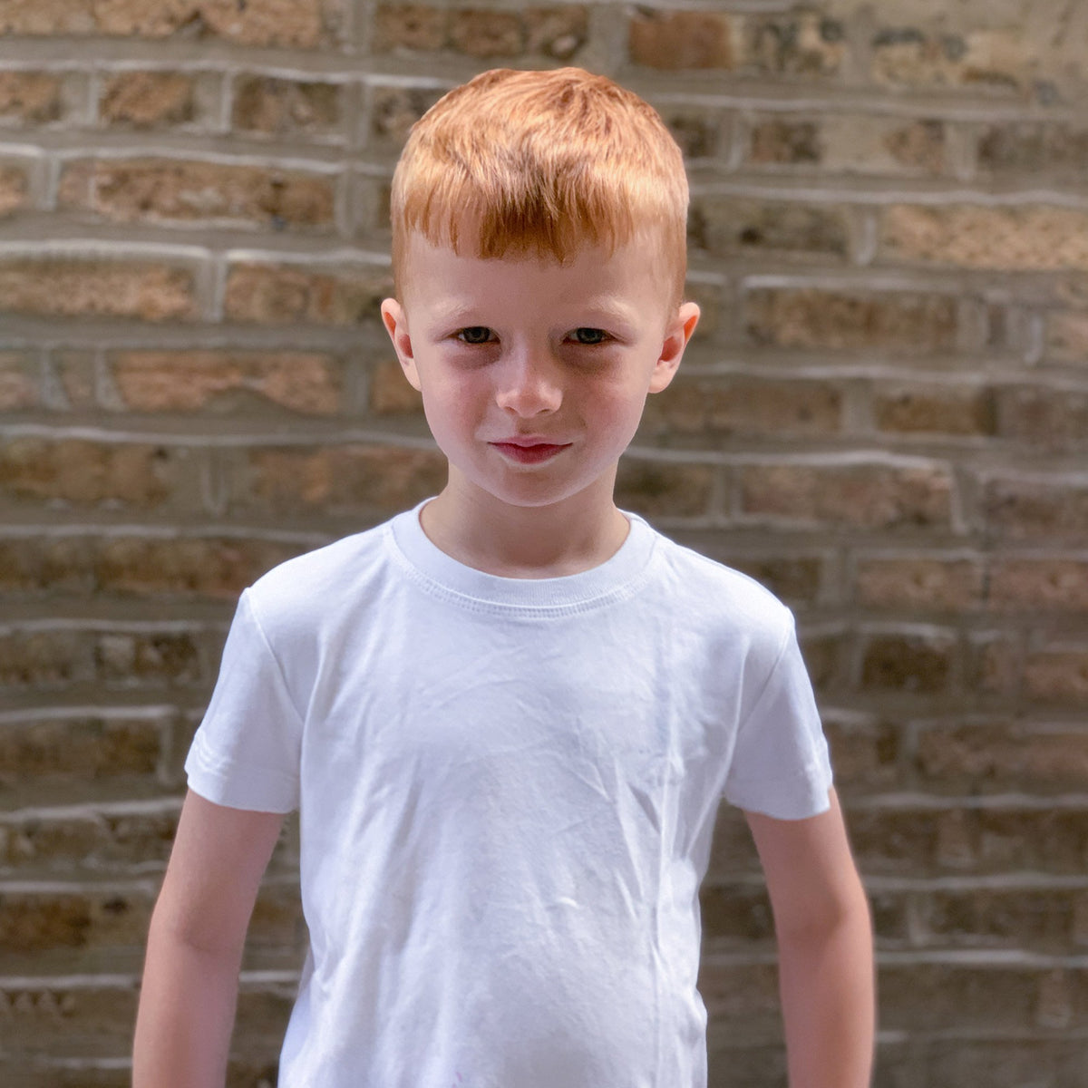 Kids' Classic color:White Combed Cotton Kids' T-shirts New T-shirts