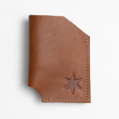Light Brown Leather Card Holder