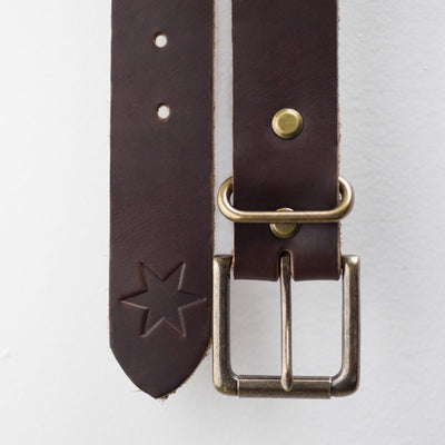 #1: Dark Havana Brown Leather Belt