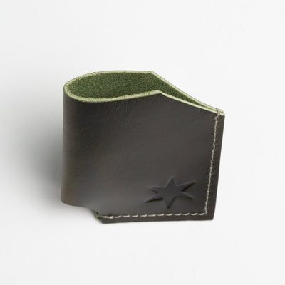 Olive Leather Card Holder