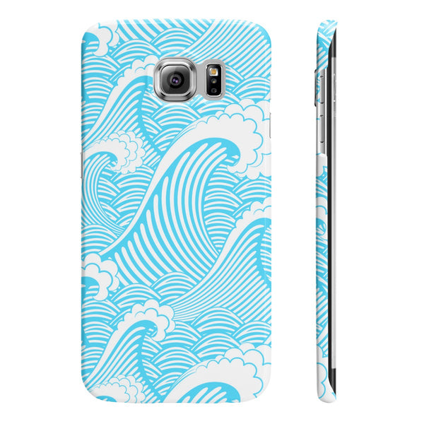 Blue Waves Slim Phone Cases