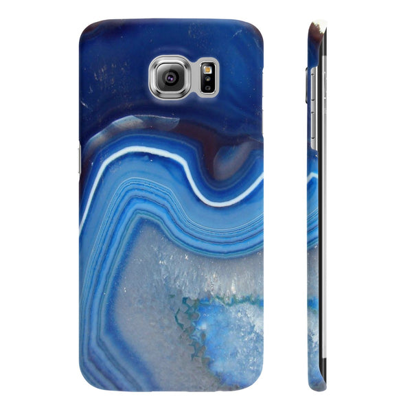 Blue Agate Stone Slim Phone Cases