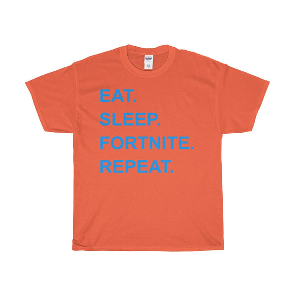 Eat Sleep Fortnite Repeat Heavy Cotton T-Shirt