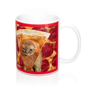 Pizza Cat Meme Mug 11oz