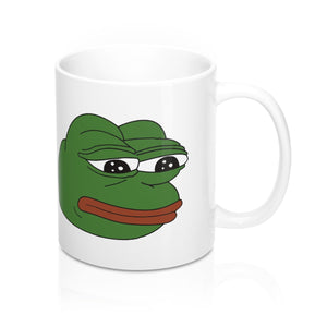 Pepe The Sad Frog Meme Mug 11oz