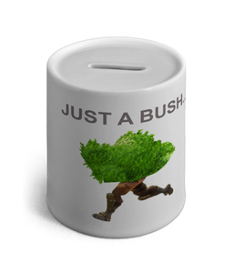 Just a Bush Fortnite Inspired Ceramic Money Box