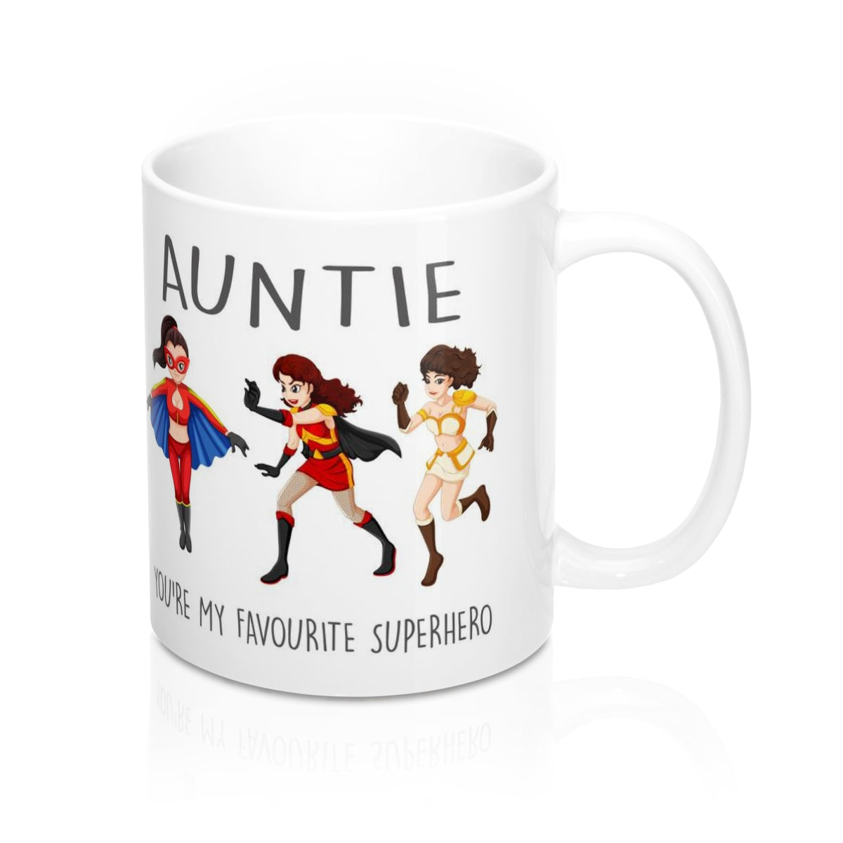 Auntie You're My Favourite Superhero Mug 11oz