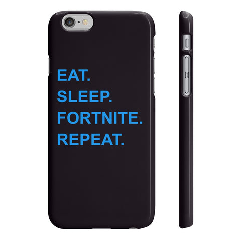 Eat Sleep Fortnite Repeat Slim Phone Cases