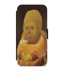 Y Tho Funny Meme Faux Leather Phone Cases Integration Option y tho