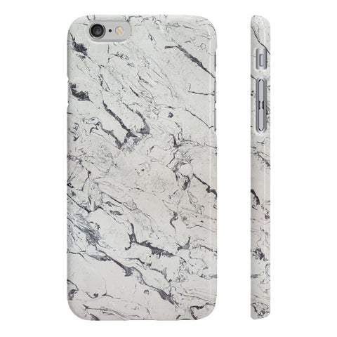 White Marble Slim Phone Cases