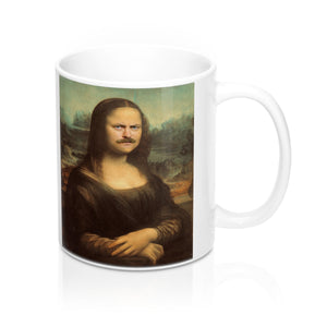 Ron Swanson as Mona Lisa Mug 11oz