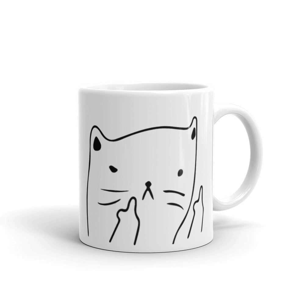 MugUp Yours Cat Mug, Funny Mugs, Coffee Mug, Tea Mug, Gift Mugs or Office Mug
