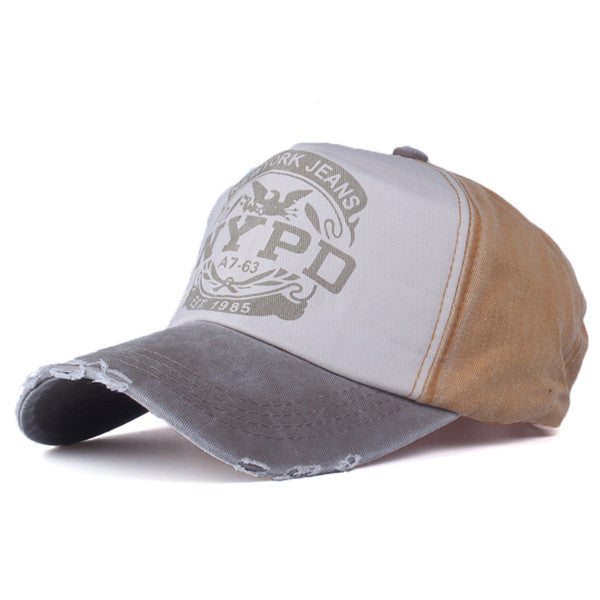 Worn out style fashionable baseball cap