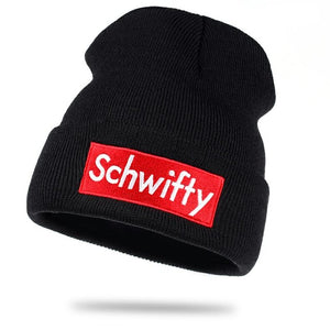 Get SCHWIFTY Winter Knitted Hat - Grey or Black