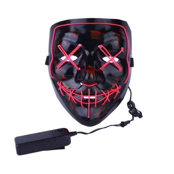 Festival Rave Mask LED Light Up Party Masks The Purge Festival Costume Mask
