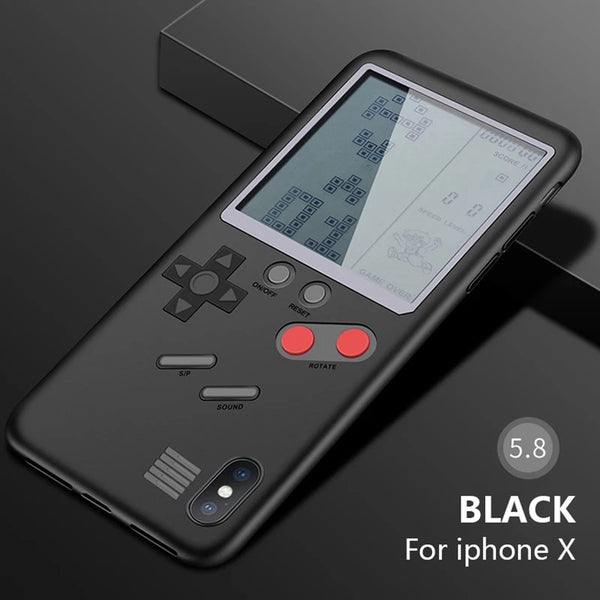 Retro Game Machine Phone Case For iPhone X 6 6S Plus Cover Black Retro Game Console Case For iPhone 7 8 Plus X